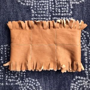 Real Leather/Fur Tan Unique Scarf 👌🏼